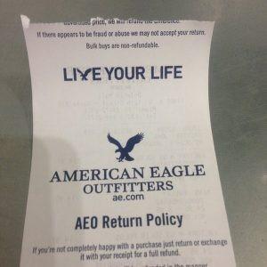 AEO Return Policy