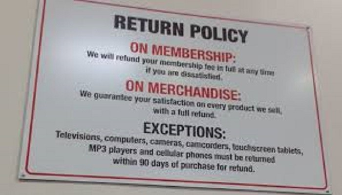 Costo Return Policy Rules