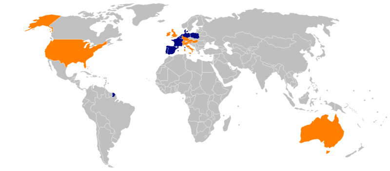 ALDI Stores in the World